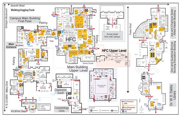 Map of the CCC Campus