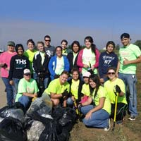 Radiologic Technology students volunteering in the community