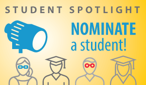 Nominate a Student for Student Spotlight button