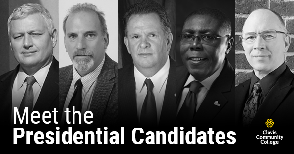 Clovis Community College Board of Trustees Announces the five finalist for President