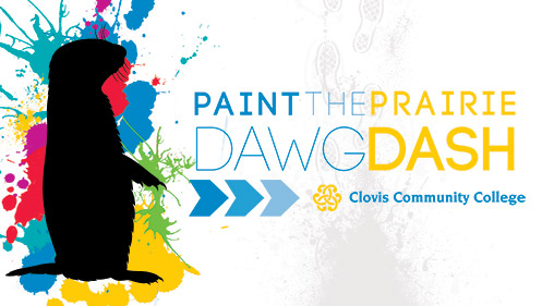 Fourth Annual Paint the Prairie Dawg Dash artwork for fun run