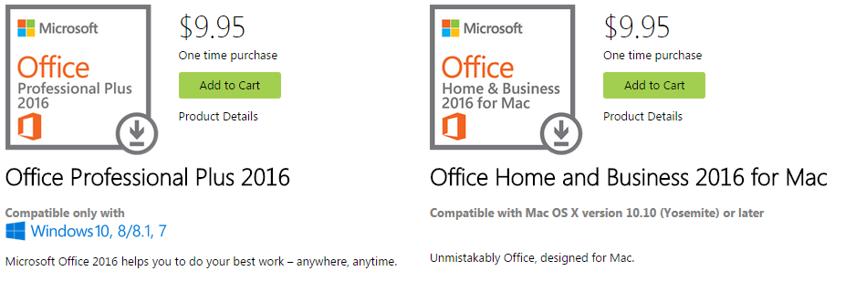office professional plus vs office home and business